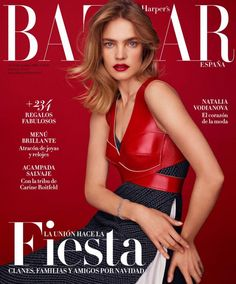 Natalia Vodianova in Harper's Bazaar Spain December 2016 issue