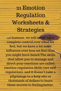 21 Emotion Regulation Worksheets & Strategies – My Pin's Emotional Regulation, Self Regulation, Coping Skills, Social Skills, Social Work, Skill Saw, Therapy Worksheets, Activities For Adults, Social Activities