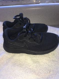 980e6e37ef3b46 kids nike shoes size 11 all black used but in great conditionvery  controble.  fashion
