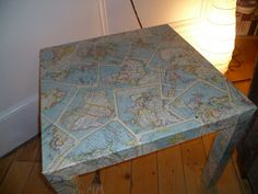 Made in Morningside: How to Revamp an IKEA table with maps (or whatever takes your fancy)