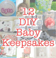 12 DIY baby keepsakes-