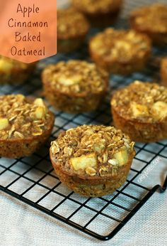 Apple Cinnamon Baked Oatmeal Singles - Sandwich a piece of low-fat cheese into your muffin for a healthy grab-and-go breakfast.