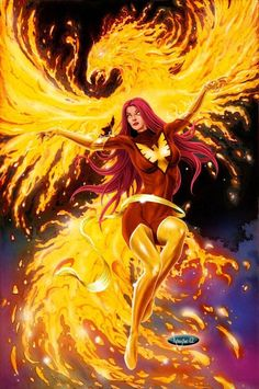 Dark Phoenix, Phoenix Marvel, Jean Grey Phoenix, Phoenix Force, Phoenix Rising, Marvel Comics Art, Marvel Heroes, Marvel Characters, Captain Marvel