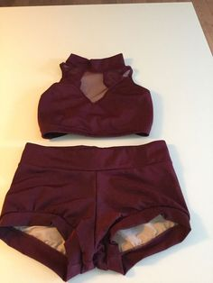 Maroon Custom Made Solo Dance Costume(jazz/contemp) Never Used Adult XS/child XL