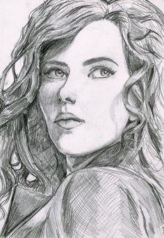 Scarlett Johansson as The Black Widow sketch by botmaster2005