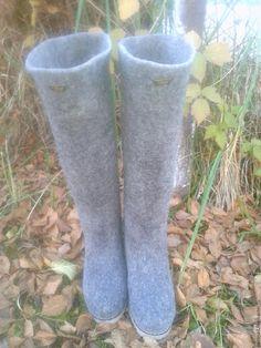 3aff9ddf4 Обувь ручной работы. Сапоги женские валяные .. Шерстинка (okravchuk).  Ярмарка Мастеров