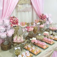 Decoracion de un baby shower para niña