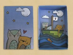 Enter the Clutter's Matchbox Art Show - The Owl and the Pussycat | Flickr - Photo Sharing!