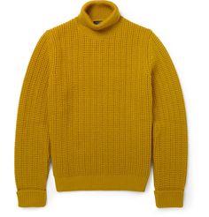 Alfred Dunhill - ребристые-вязать Rollneck шерстяной свитер | MR PORTER