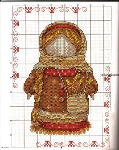 Вышивка крестиком оберег домашнего очага. Кукла-оберег Хозяюшка-Благополучница Cross Stitch Heart, Cross Stitch Borders, Cross Stitch Flowers, Cross Stitch Designs, Cross Stitching, Cross Stitch Patterns, Folk Embroidery, Cross Stitch Embroidery, Stitch Doll