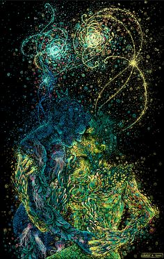 Multi-disciplinary artist and illustrator James R. Eads plays with motion and color to render harmonizing illustrations of people and nature. With swirling van Gogh inspired skies and percussive strokes of color, his style is well-suited for meditations on human connection and the relationships betw