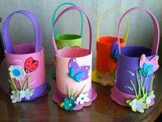 goma eva para niños Paper Roll Crafts, Paper Crafts Origami, Cardboard Crafts, Foam Crafts, Preschool Crafts, Easy Crafts, Diy And Crafts, Arts And Crafts, Spring Crafts For Kids