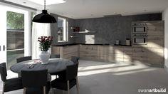 www.artbuild.nl Interieur ontwerp woonhuis, keuken oud eiken