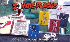 "Zombie Plague - Complete Boardgame Papercraft - by R Squared Studios     ""Available now from RSquared Studios a comic book and board game about four high school students who have the worst day ever, Zombie Plague: The Day From Hell! The double sized comic includes the game rules and all of the map pieces, cards, card miniatures, and markers are available for download from this page. New game materials will be added periodically to expand the game and keep it fun and fresh."" - R Squared…"