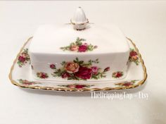 FREE SHIPPING Royal Albert Old Country Roses by TheDrippingTap