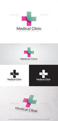 Medical Clinic Logo: Symbol Logo Design Template created by Medical Symbols, Medical Logo, Clover Logo, Clinic Logo, Lunch Boxe, Bussiness Card, Health Research, Health Logo, Symbol Logo