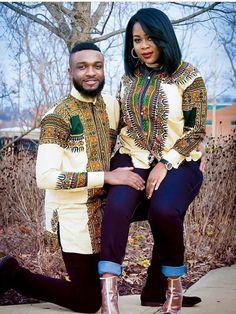 Beautiful couples matching dashiki styles, couples matching ankara dashiki styles to rock, couples dashiki designs to rock together #ankara #ankarastyles #asoebieblla #asoebi #africanprint #africanfashion
