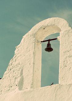 Vintage-style print: Church, Mykonos, Greece