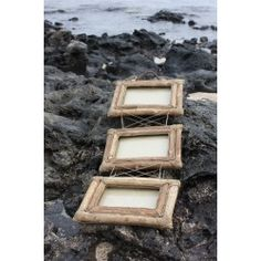 Photo Frame Trio - Crafted from coffee tree and completed with a unique finish, each frame is hand made to create a one-of-a-kind collector piece.