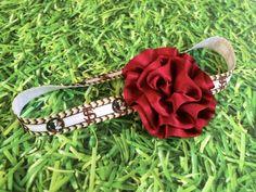 FSU Seminoles Football Elastic Headband Garnet and Gold by PinkSunshinePretties on Etsy