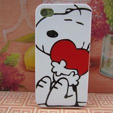 Apple iPhone 4 4S 4G Rubber Silicone Skin Case Cover Snoopy Charlie Brown #HRT