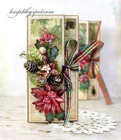 Hello everybody  I prepared some Chocolate Christmas Cards. This is a great way to send a card and a Christmas gift in one. I decortated th...