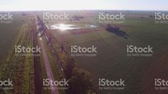 route and cultivated fields royalty-free stock photo