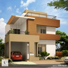 New Exterior Stone Modern Floor Plans Ideas House Outer Design, House Outside Design, House Front Design, Modern House Design, 2 Storey House Design, Bungalow House Design, Building Elevation, Home Elevation, Front Elevation