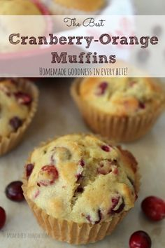 The Best Cranberry Orange Muffins -substituted brown sugar with reg. sugar & changed oil to a oil/ applesauce mixture // Christmas // Holiday Baking // Food Gift Muffin Recipes, Baking Recipes, Breakfast Recipes, Dessert Recipes, Breakfast Muffins, Breakfast Fruit, Breakfast Potatoes, Chili Recipes, Cookie Recipes