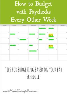 How to Budget If You are Paid Every 2 Weeks - what a simple solution to something that can be so hard when it comes to paychecks!