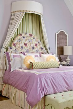 Girl's Bedroom Girl's Bedroom Girl's Bedroom-love the canopy and headboard!