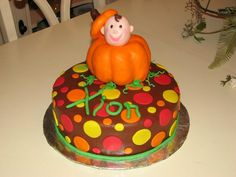 Fall baby shower cake pumpkin