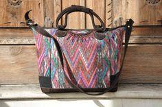 Guatemalan Weekender Bag Handmade In Guatemala by Tienditaboutique
