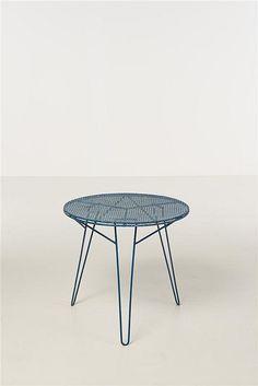 Mathieu Matégot; Enameled Metal Table, c1955.