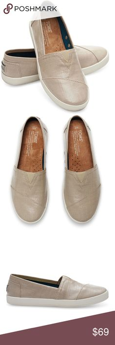 NWT TOMS Oxford Tan Patent Linen Avalon Slip-On NWT TOMS Oxford Tan Patent Linen Slip-On Sneakers, Size 5.5W US. Patent linen remixes TOMS beloved Classic style slip-ons shoes, gorgeous shade of tan/beige added comfort, stability of our custom cup outsole. Brand new, never worn. Original sticker still on bottom of shoe. Note: Does NOT include original box. I'm always open to the idea of offers and bundles to reduce shipping & other costs for you! Free gifts with all purchases always! ❤️❤️…