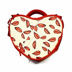 Kiss My Heart  Alles Bags Small Red Lip Patterned Water Resistant DSLR Camera Bag for the Young at Heart Hobby Photographer Using DSLR Equipment by Canon Nikon Sony etc * More info could be found at the image url. (Note:Amazon affiliate link) #CameraGadgetsandAccessories