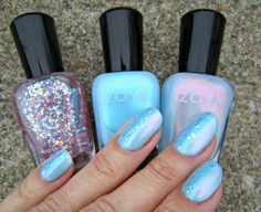 Concrete and Nail Polish - Zoya: Rayne, Raine and Monet
