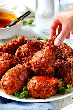 Nashville Hot Chicken (Spicy Fried Chicken) | http://www.carlsbadcravings.com/nashville-hot-fried-chicken-recipe/