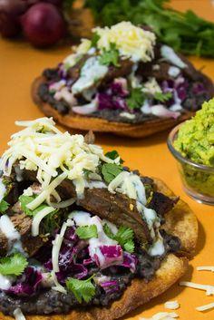 Carne Asada Tostadas - A deliciously light dinner! #sponsored #healthy #dinner