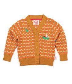 Jess Jacquard Knit Cardigan/Toffee - Catalog Products - Shop – Tootsa MacGinty - Unisex childrens' wear