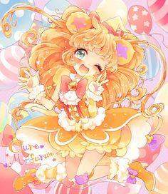 View full-size (1000x1153 1,363 kB.) Anime Chibi, Kawaii Chibi, Kawaii Art, Cute Kawaii Girl, Anime Girl Cute, I Love Anime, Pretty Cure, Anime Girl Dress, Manga Girl
