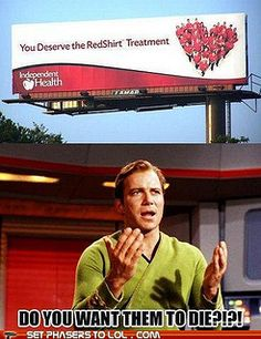 Warms my geek heart to know I wasnt the only one to think this. Star Trek Red Shirts