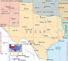 Reference Map Of Texas USA Nations Online Project Texas - Map of texas usa