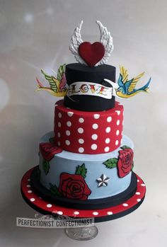 Rockabilly Wedding Cake - Cake by Niamh Geraghty, Perfectionist Confectionist