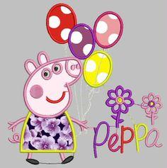 Peppa Aplicacion - LoboSolitario.com Janome, Peppa Pig, Sports Brand Logos, Brazilian Embroidery Stitches, Disney Frozen 2, Diy Baby Gifts, Applique Monogram, Machine Embroidery, Embroidery Designs