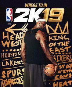 6872af125d02da NBA2k19 fake cover. Lebron NBA Art  wmcskills Lakers Kobe