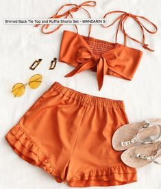 Love this set! Burnt orange and mustard colors are great for any summer outfit; now all I need is a tan! #afflink