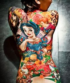 This is a terrible choice for a back piece, however i will say the mural is absolutely amazing. Everything important stands out even in the back ground, and i love the colors!