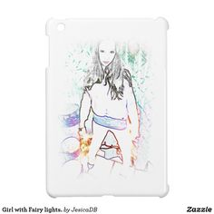Girl with Fairy lights. Cover For The iPad Mini