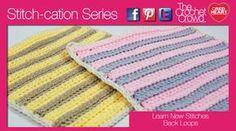 Crochet Back Loop Texture Stitches